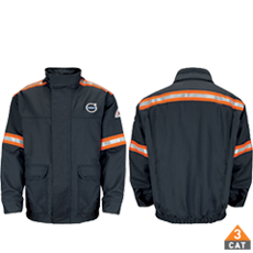 BULWARK® LINED BOMBER JACKET WITH STRIPING